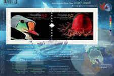 Canada 2007 International Polar Year Souvenir Sheet Used