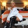 NEW fall  KYLIE Jenner style white mini sweater dress ruched sweatshirt dress