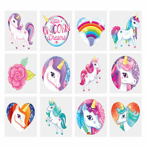 Kids UNICORN TATTOOS Childrens Party Bag Fillers Boys Girls Temporary Tatoo Mini