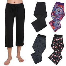 Women's Sleepwear Capri Pajama Pants Sleep Capris Cropped Lounge Bottoms S-3X