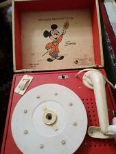 New listing Vintage Mickey Mouse Club Phonograph record player 1950s By Lionel Toy Co