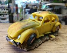Air Action Yellow VW Bug Beetle Car Aquarium Ornament Fish Tank Decoration