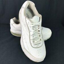 LA Gear Rock N Tone Women 7.5 White Leather Shoes Toning Curved Sole