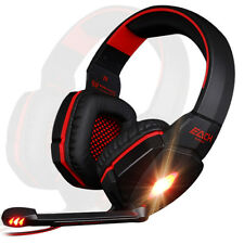 G4000 Red LED Surround Sound PC Laptop Gaming Headset Headphone with Microphone