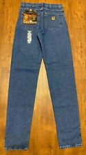 NEW NWT Men's Carhartt Relaxed Fit Blue Jeans Size 32 X 38 TALL