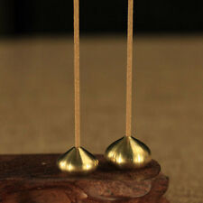 Stick & Cone Water Drip Shape Incense Burner Holder Censer Plate Incense Brass