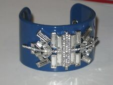 (Sz Medium)- Lots Of Sparkle -Rv $98 Lia Sophia Elysian Bracelet In Navy Blue