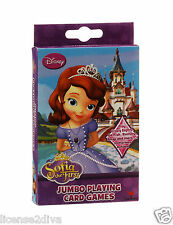 DISNEY SOPHIA SOFIA THE FIRST JUMBO PLAYING CARDS SEVERAL GAMES PRINCESS FULL