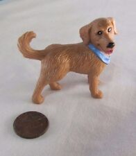 Rare! FISHER PRICE Loving Family Dollhouse TAN PUPPY DOG w/ BANDANA Pet Doggy