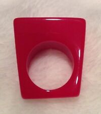Lucite Red Ring Size 8