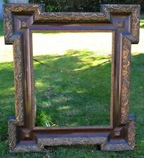 Large Vintage Ornate Edwardian Decorative Moulding Gilt Wooden Picture Frame