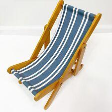 American Girl Kit's Blue Stripe Beach Chair