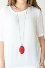Paparazzi ~ Stone Stampede - Red Necklace Set