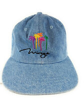 Mirage Las Vegas Logo Baseball Style Hat Cap Light Blue Denim Vintage Very Good