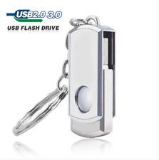 64GB 32GB USB 3.0/2.0 Metal Swival Flash Drives Memory Storage Keychain U Disk