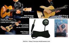 EKO Fasi Pickup a Ventosa ideale per chitarra mandolino ukulele con cavo di 3mt