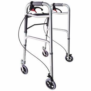 Deambulatore girello pieghevole 4 ruote per anziani e disabili carrello Moretti