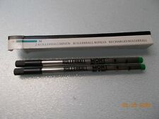 2 New in Box Mont Blanc Rollerball Refill Cartridges, Green Ink, Medium #16302