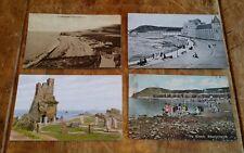 4 x vintage postcards Aberystwyth early 190O's. (aa).