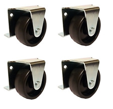 2 Inch Low Profile Trundle Casters Wheels Cabinet Roll Out Bed Set Of 4