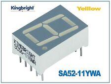 Pantalla de 7 segmentos Amarillo ánodo común 13.2mm Kingbright SA52-11YWA