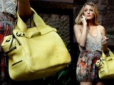 100% Authentic 3.1 Phillip lim Lack Small Duffel Yellow Leather Bag