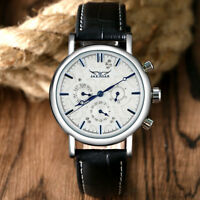 JARAGAR Luxury Date Leather Band Men Automatic Mechanical Business Wrist Watches