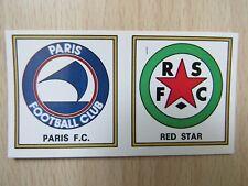 Panini Football 77 - 1977-  N° 373 - Ecussons Paris FC - Red Star