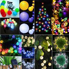 Solar Lichterkette 20 30 50 LED Außenbeleuchtung Weihnachten Garten Party Kette