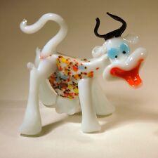 Glass Blown Art Figurine Animal COW Murano Style #4515