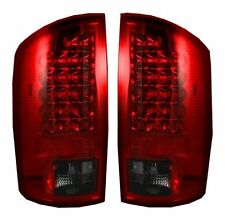 RECON DODGE RAM RED SMOKED LED TAIL LIGHTS 02-06 PART# 264171RBK