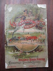 Original 1890 Minneapolis Threshing Machine Co.Sales Brochure Engines/Separators