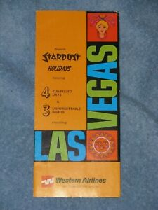 WESTERN AIRLINES Flight Brochure Stardust Hotel Casino Holidays LAS VEGAS