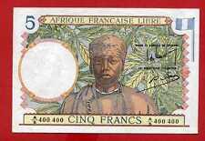 ( Ref: A.400 ) 5 FRANCS AFRIQUE FRANÇAISE LIBRE NEUF (RARE)