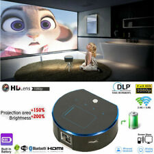 Mini Pocket DLP Android HD 1080P Projector Wifi Bluetooth Smart Cinema HDMI USB