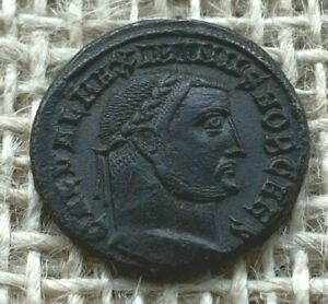 Maximinus 11 AE Nummus AD308-AD309 Extremely Fine