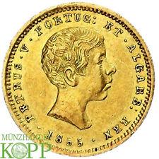 AA2316) Portugal Pedro V. 1853-1861. 1000 Reis Gold 1855