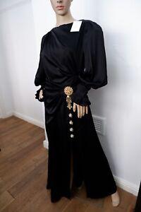 peter pilotto NEW Maxi Black Long dress Uk 14 Size Fr42 Bnwts Gown