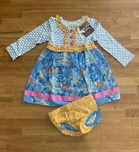NEW Matilda Jane Toddler Dress Woodland Print Long Sleeves Size 18M - 24M