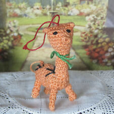Dollhouse CROCHET GIRAFFE NURSERY TOY Artisan Miniature Stuffed Animal Amigurumi