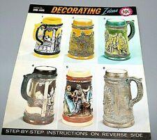 "Duncan Ceramic DM - 405 7"" Stein Instructions Vintage Decorating Ideas One Sheet"