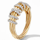18k Gold Plated Fashion Rings For Women White Sapphire Wedding Jewelry Size 6-10