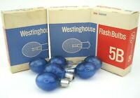 Vintage Westinghouse 5B Camera Flash Bulbs Blue - 3 Boxes Total 18 Bulbs  NOS