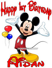 NEW Personalized Custom Mickey Mouse birthday t shirt party Add Name & Age