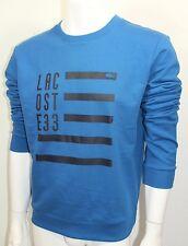 Lacoste 33 Crew-Neck Sweatshirt Men's Casual L-Sleeve Blue Sz 4=Small NWT