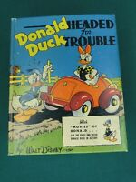 THE BIG LITTLE BOOK - DONALD DUCK HEADED FOR TROUBLE - #1430 - 1942 - HIGH GRADE