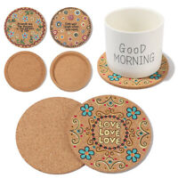 Placemats Anti-hot Heat Pad Cork Coasters Wooden Cup Mat Heat Resistant