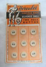 Vintage Linen Buttons 1920s The Hercules  on Original Display Card