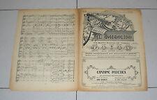 Spartito IL MANDOLINO 1937 CANZONE PATETICA Berruti chitarra Liberty mandolin