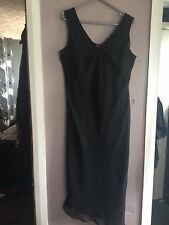 Dorothy Perkins Black Chiffon Asymmetric Hem Dress Size 16